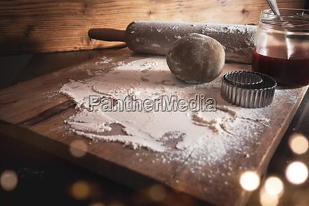 ingredienti da forno per biscotti di