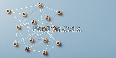 social network astratto con spazio di