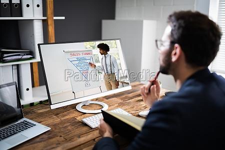 riunione di coaching online virtuale