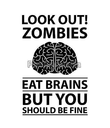 look out gli zombi mangiano