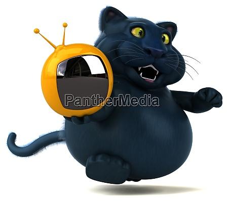 gatto divertente illustrazione 3d