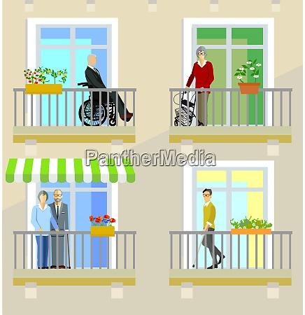 anziani e disabili nelle case di