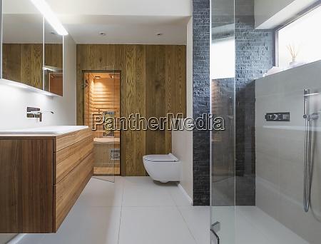 moderno bagno vetrina per la casa