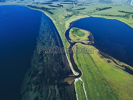 veduta aerea della baia di novgorod