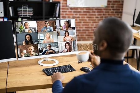 webinar di lavoro per videoconferenze online