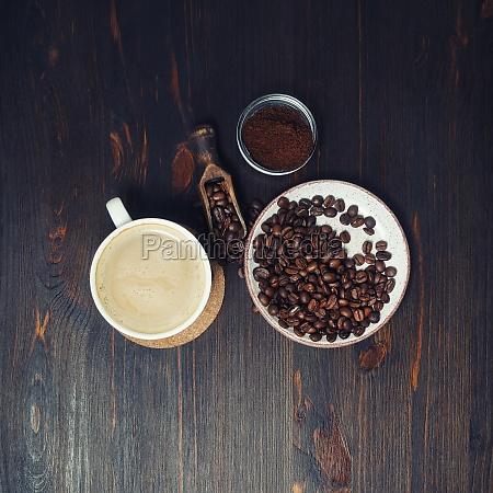 natura morta con il caffe tazza