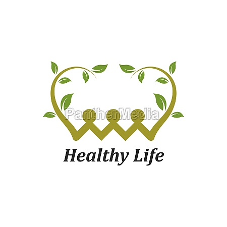 healthy, life, people, vettore, modello, logo - 29676680