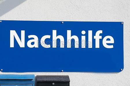 private, teaching, sign, in, german, (nachhilfe) - 29767015