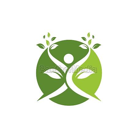 healthy, life, people, vettore, modello, logo - 29817305