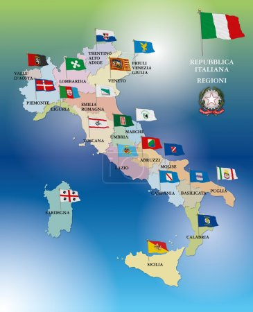Vento, europeo, bandiera, Simbolo, centro, Italia - B51476707