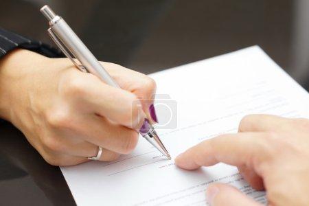 carta, aziendale, segno, modulo, uomo, mano - B57142677