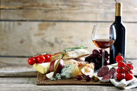 tavolo, rosso, azzurri, sfondo, vetro, festa - B84309564